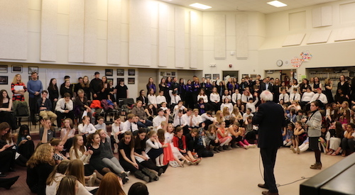 Senator Sanders at Choral Concert
